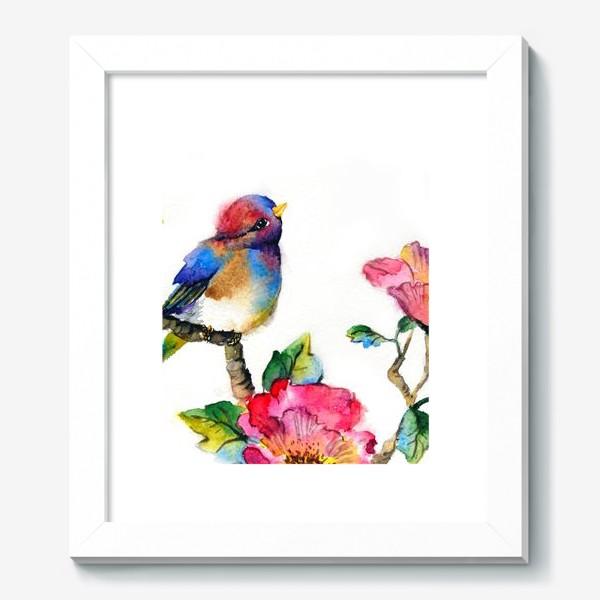 Картина «Птичка на ветке»