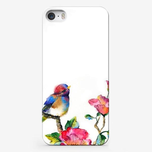 Чехол iPhone «Птичка на ветке»