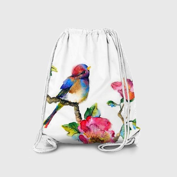 Рюкзак «Птичка на ветке»