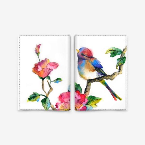 Обложка для паспорта «Птичка на ветке»