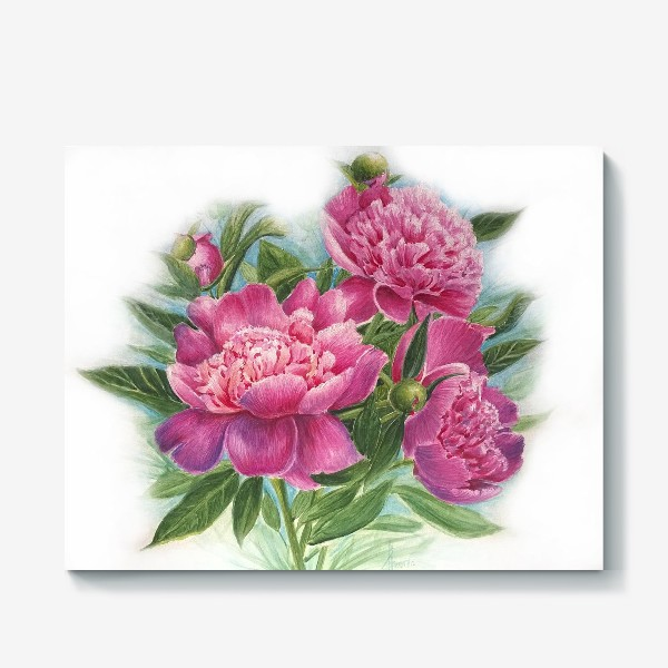 Холст «Розовое трио»