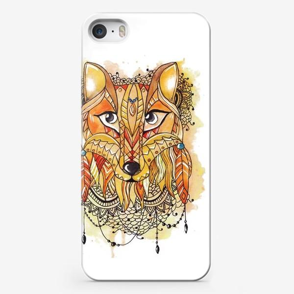 Чехол iPhone «Акварельная лиса»
