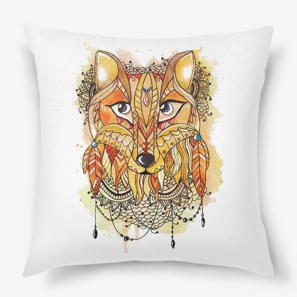 Подушка «Акварельная лиса»