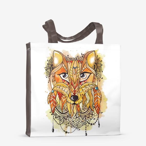 Сумка-шоппер «Акварельная лиса»