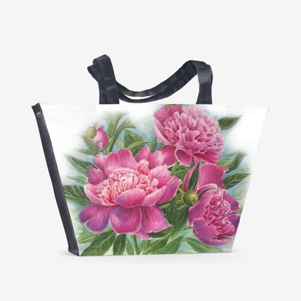 Пляжная сумка «Розовое трио»