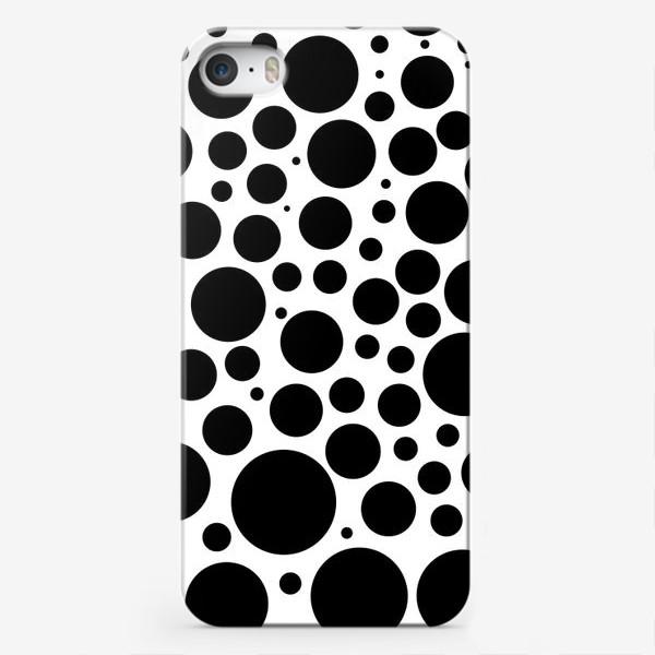 Чехол iPhone «Черные кружочки»
