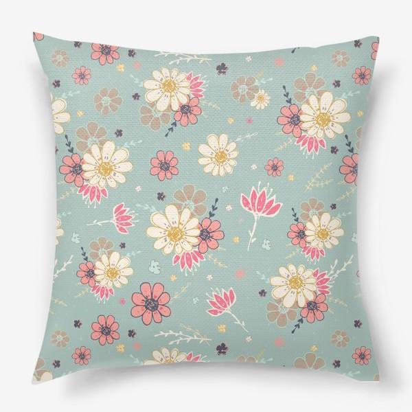 Подушка «Из коллекции Время и цветы 4»