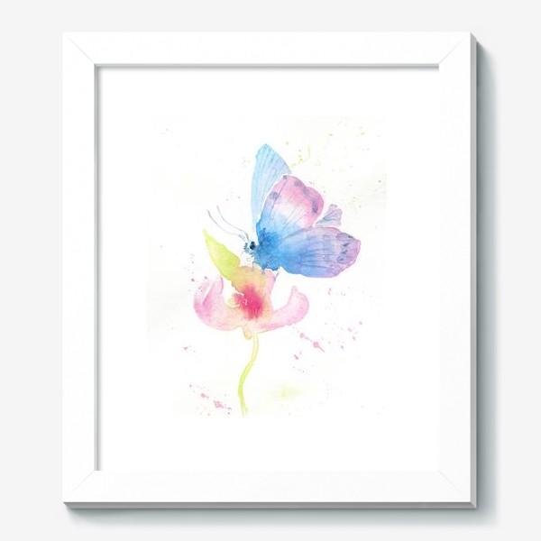 Картина «Бабочка на цветке»