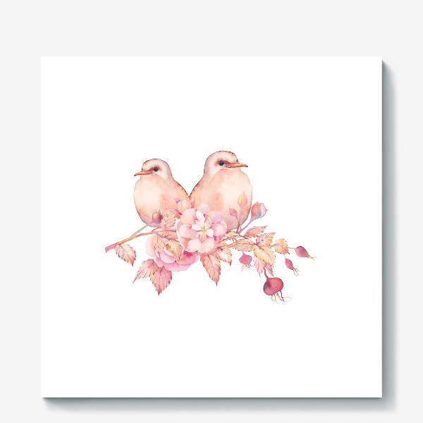 Холст «Птички»