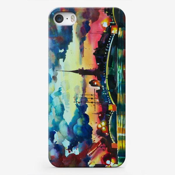 Чехол iPhone «Петропавловская крепость, акварель»