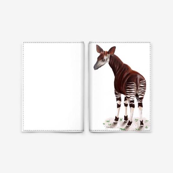 Обложка для паспорта «Лошадка-зебра окапи»