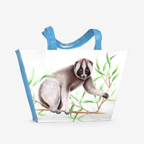 Пляжная сумка «Лемур Лори»
