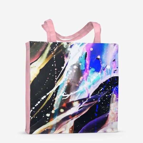 Сумка-шоппер «Акварельный фон с брызгами краски»