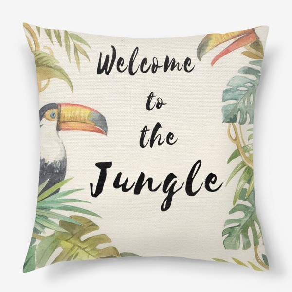 Подушка «Welcome to the jungle»