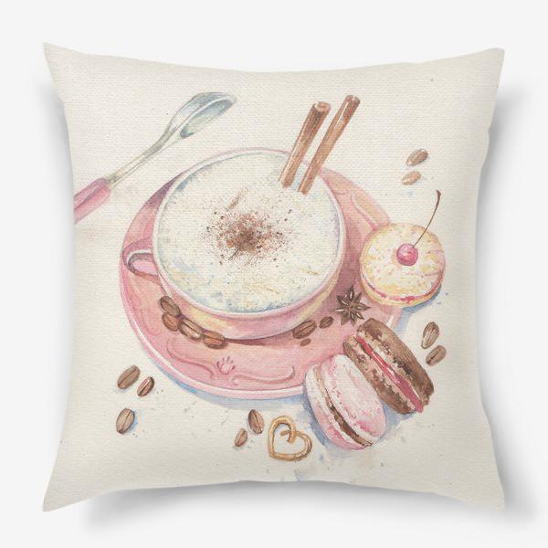 Подушка «кофе и сладости»