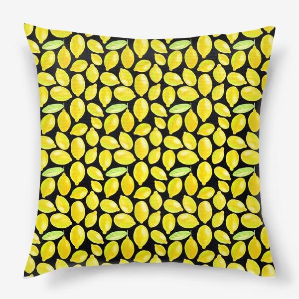 Подушка «Паттерн кислые лимоны»