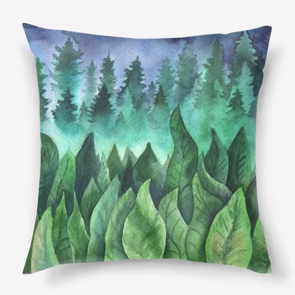 Подушка «Туманный лес»
