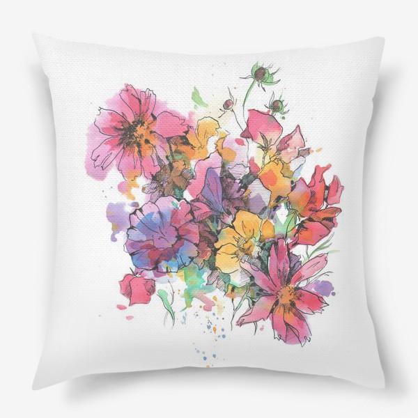 Подушка «Букет цветов»