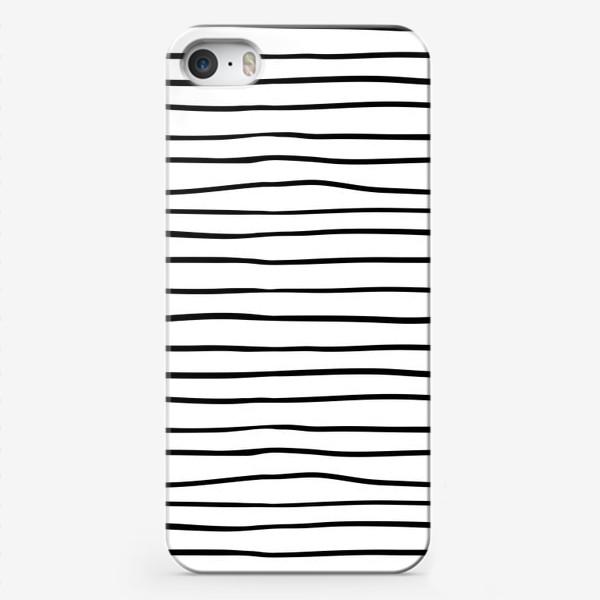 Чехол iPhone «Черно-белые полоски»