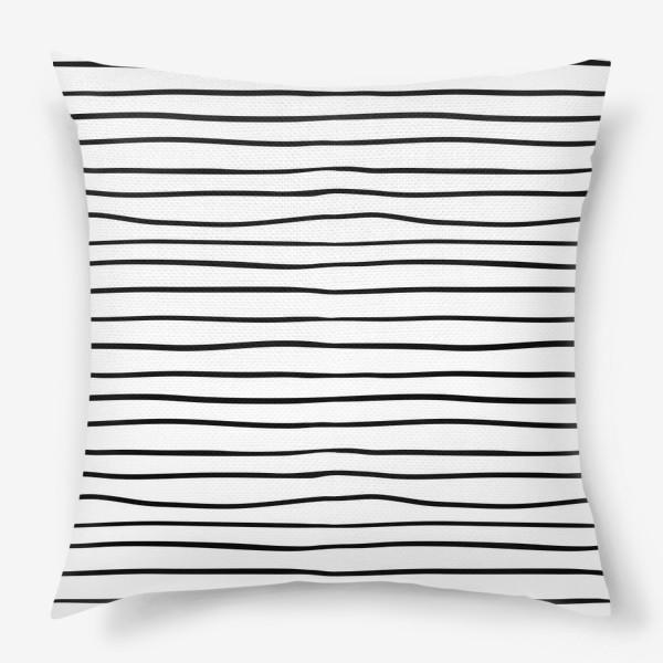 Подушка «Черно-белые полоски»