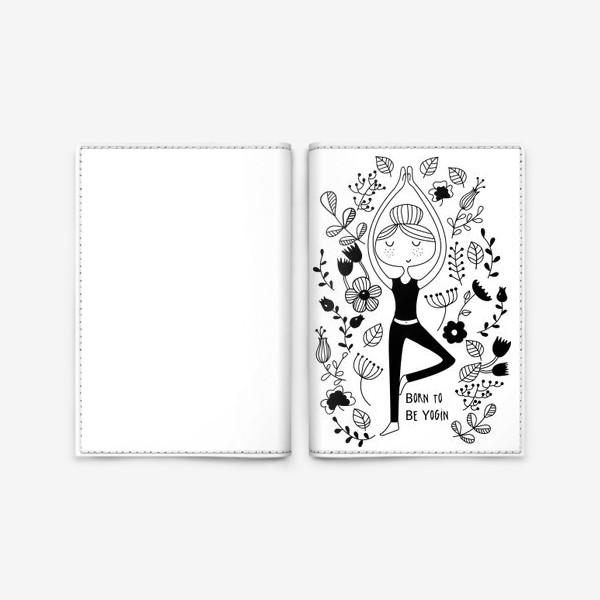 Обложка для паспорта «Йога. Поза Дерева.»
