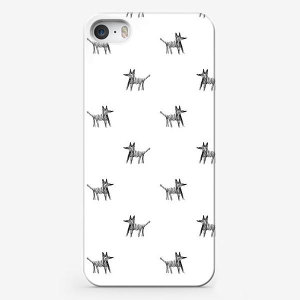 Чехол iPhone «Паттерн с собаками»