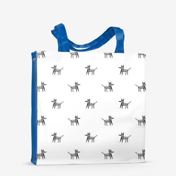 Сумка-шоппер «Паттерн с собаками»