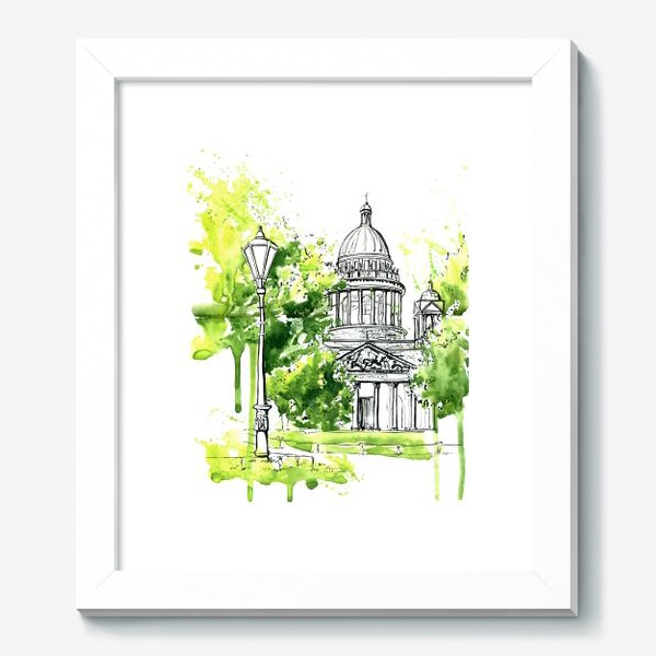 Картина «Летний Исаакиевский собор »