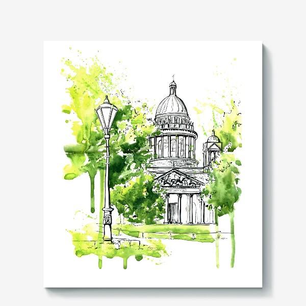 Холст «Летний Исаакиевский собор »