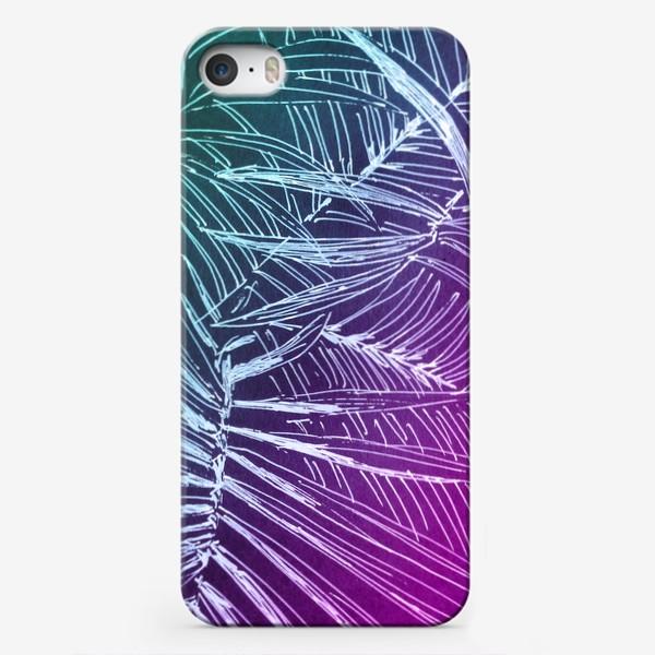 Чехол iPhone «Пальмы. Мята-карамель»