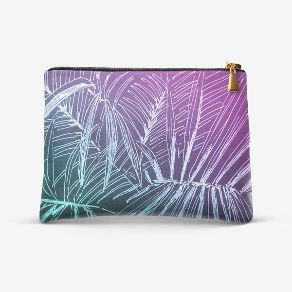 Косметичка «Пальмы. Мята-карамель»