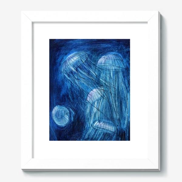 Картина «медузы в море»