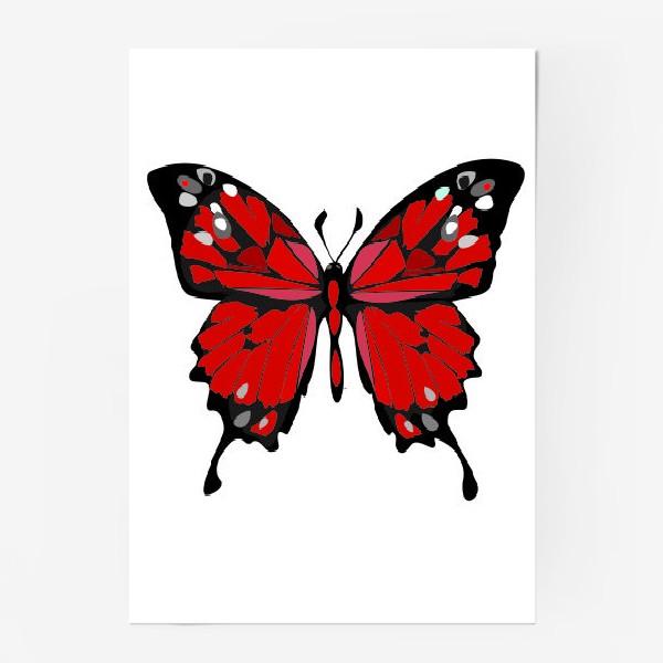 Постер «Красная бабочка»