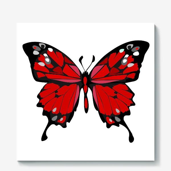 Холст «Красная бабочка»
