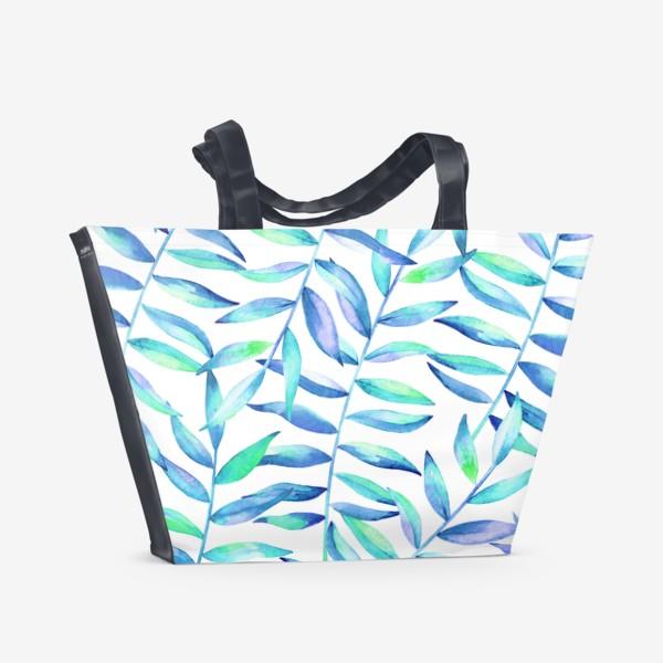 Пляжная сумка «Паттерн из листьев »