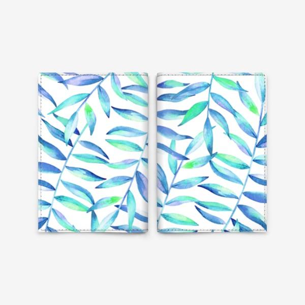 Обложка для паспорта «Паттерн из листьев »