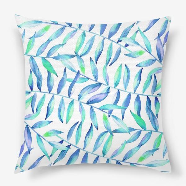 Подушка «Паттерн из листьев »