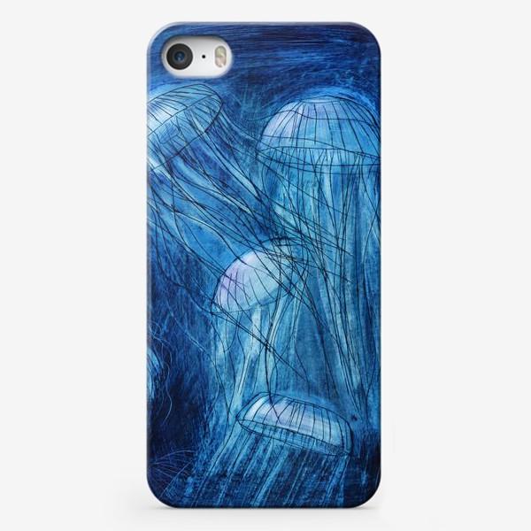Чехол iPhone «медузы в море»