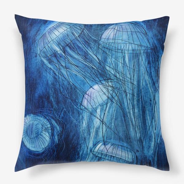 Подушка «медузы в море»