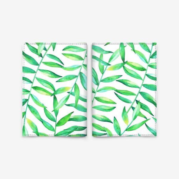 Обложка для паспорта «Пальмовые джунгли»