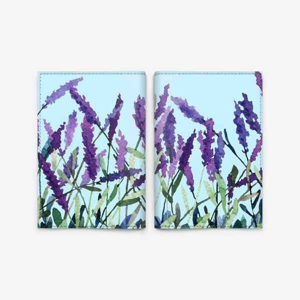 Обложка для паспорта «Violet lavender»