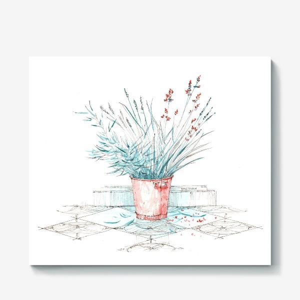 Холст «Мятные травы»