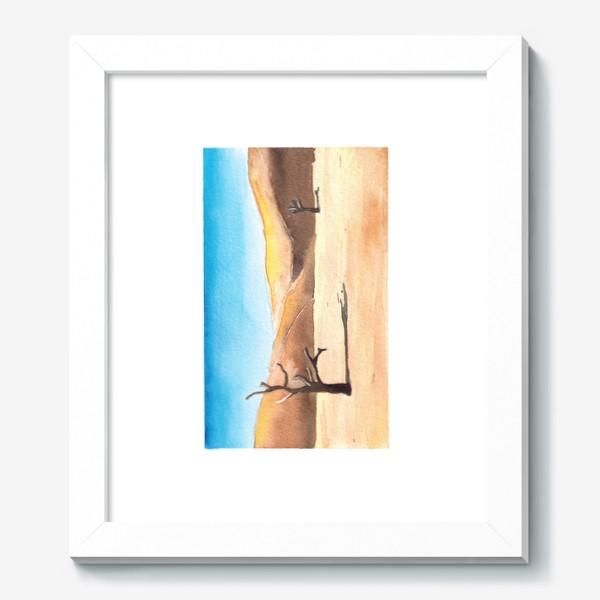 Картина «Акварельный пейзаж - пустыня»