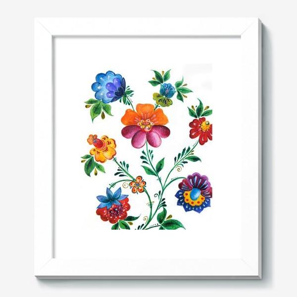 Картина «Цветы в русском-народном стиле»