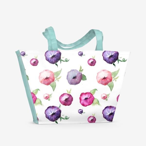 Пляжная сумка «Вьюнки»