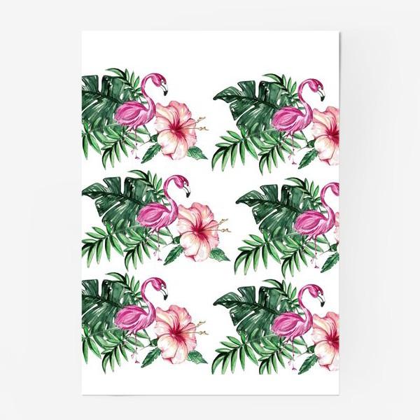 Постер «Розовый Фламинго»