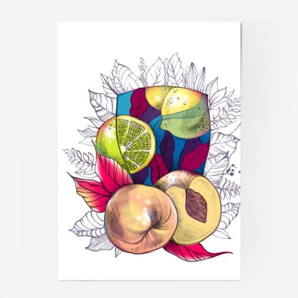 Постер «Персиковый лимонад»