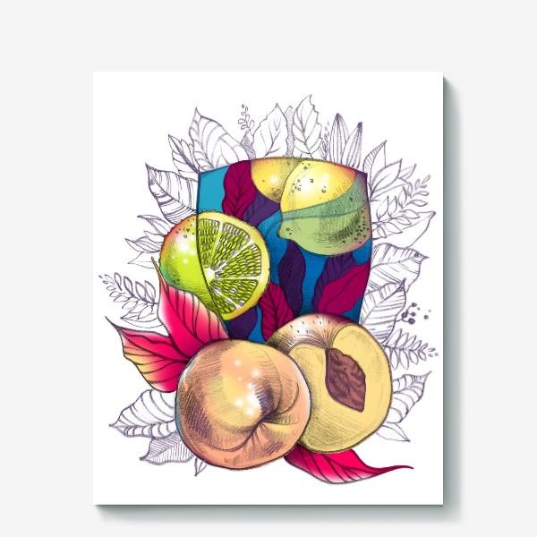 Холст «Персиковый лимонад»