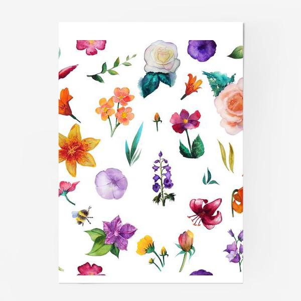 Постер «Садовые цветы»