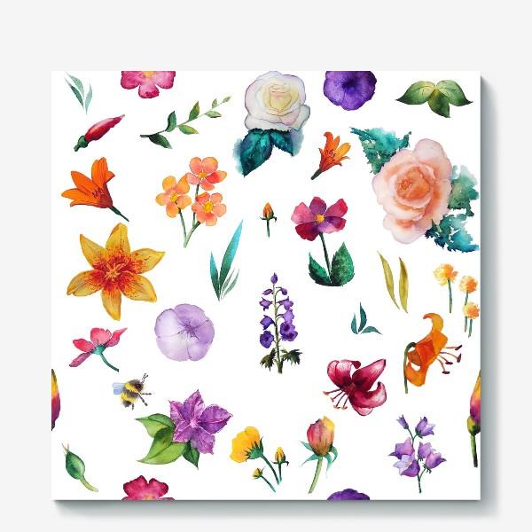 Холст «Садовые цветы»